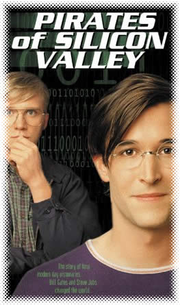 """""""Pirates of Silicon Valley"""" poster with Anthony Michael Hall as Bill Gates and Noah Wyle as Steve Jobs"""