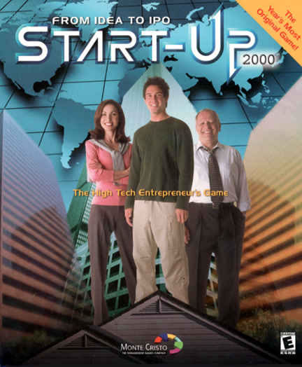 "Box for a computer game called ""Start-Up""."