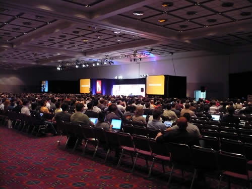 Keynote audience at RailsConf 2007.