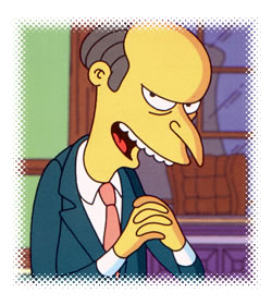 """Mr. Burns"" from ""The Simpsons"""