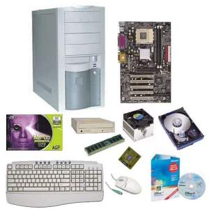 Parts of a Wintel desktop computer