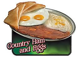 Country ham and eggs