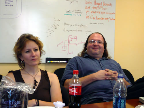 danah boyd and Ethan Zuckerman at the Berkman Center.