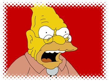 Graphic: Grampa Simpson yelling at someone