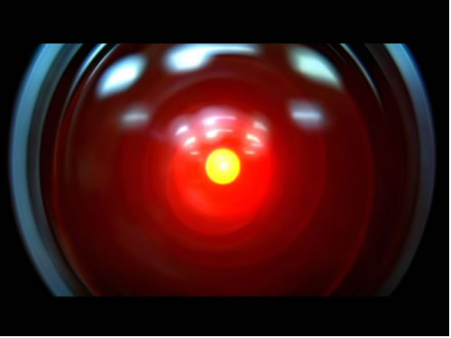 "Photo: The big red eye of Hal 9000 from ""2001″"