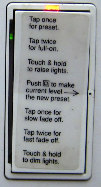 Lightswitch at Sun with a lot of confusing features and instructions.