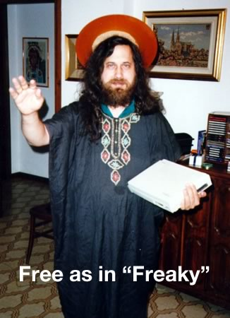 "Richard M. Stallman as St. iGNUtius: Free as in ""Freaky"""