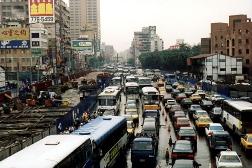 Photo: Traffic in Taiwan