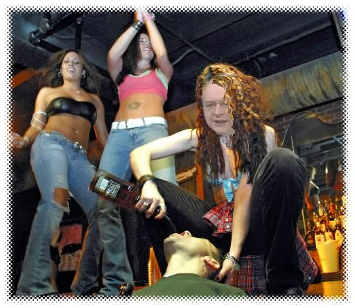 Jakob Nielsen as a bartop dancer in the Coyote Ugly Saloon