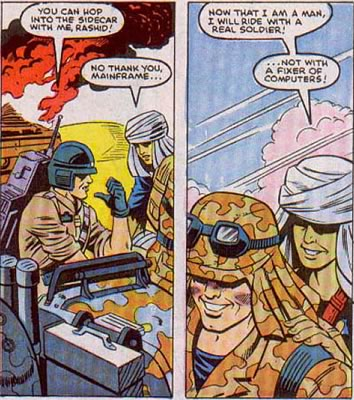 Excerpt from a G.I. Joe comic book where Mainframe gets snubbed