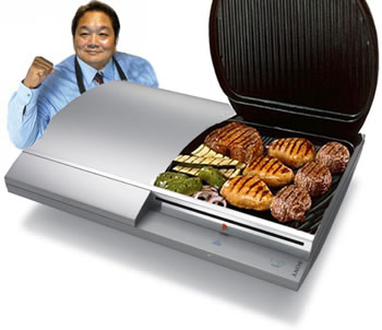 Playstation 3 as a George Forman Grill