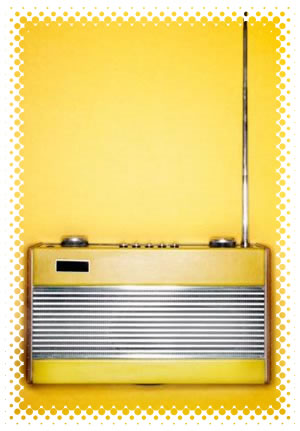 Yellow 60's-era transistor radio
