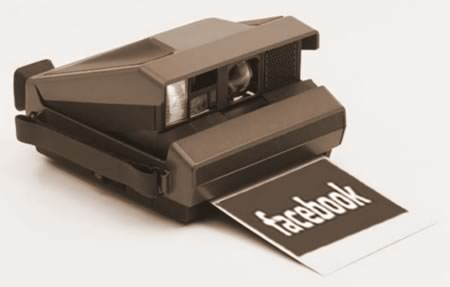 "Polaroid Camera dispensing ""Facebook"" photo"