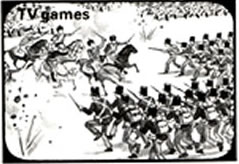 "Historical battle game as depicted in the ""The Usborne Guide to Computer and Video Games""."