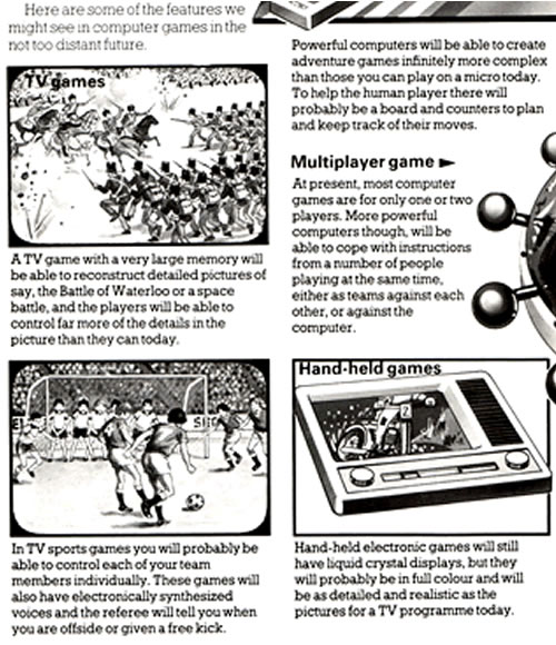 "Excerpt from ""Videogames of the Future"" a section in ""The Usborne Guide to Computer and Video Games"" (1982)"