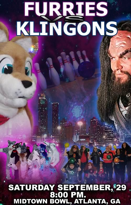 """Furries vs. Klingons"" promotional graphic"