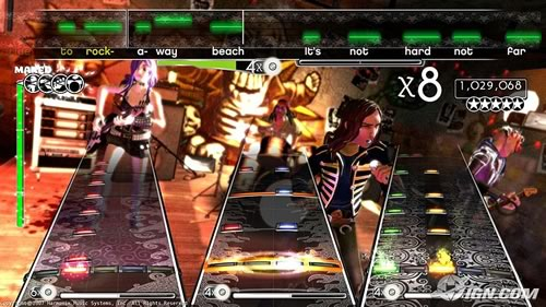 "Screenshot from the upcoming game ""Rock Band"""