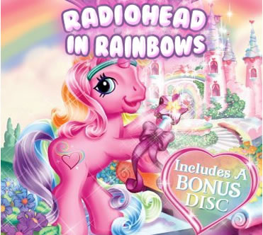 "Alternate cover art for Radiohead's album, ""In Rainbows"""