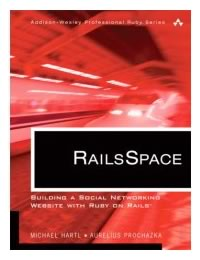 "Cover of the book ""RailsSpace"""