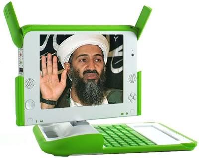 OLPC displaying Osama Bin laden on its screen