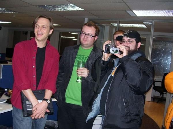"Andrew Burke, Pete Forde and Kristan ""Krispy"" Uccelo"