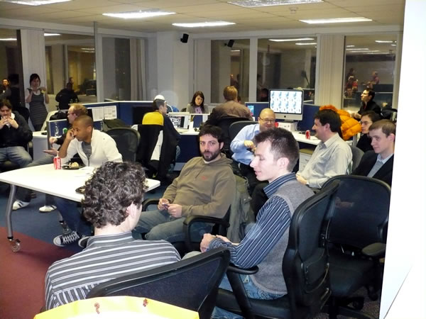 The crowd at the February 2008 Ruby/Rails Project Night