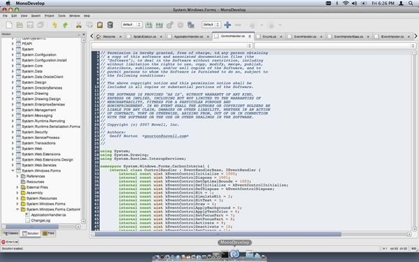 MonoDevelop screenshot