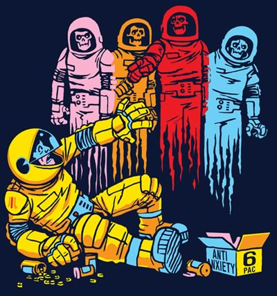 Threadless T-shirt design: The Madness of Mission 6