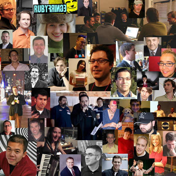 Photo-collage of Toronto tech people
