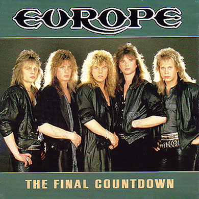Cover for Europe's single, 'The Final Countdown'.