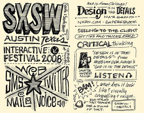 Intro pages from Mike Rohdes' SxSW notes