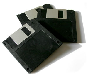 "Set of three 3.5"" floppy disks"