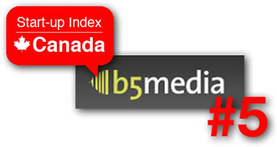 b5media and Start-Up Index Canada logos