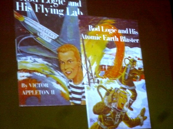 """Rod Logic book covers\"" slide from Damian Conway\'s presentation"