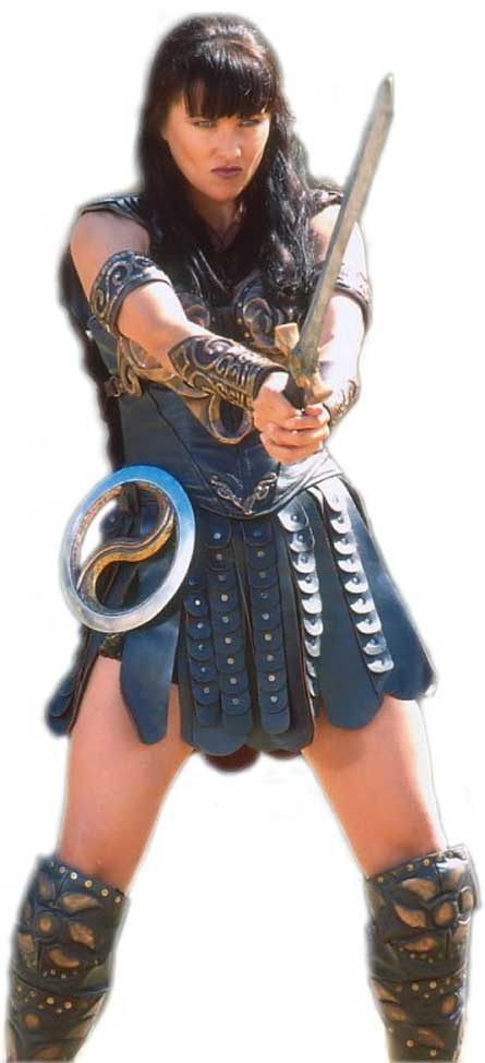 Xena, Warrior Princess, played by Lucy Lawless