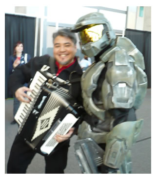 Joey deVilla and Master Chief at SxSW Interactive 2008